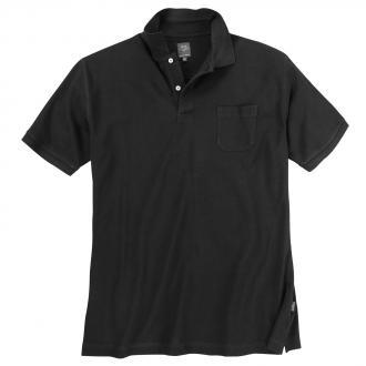 Basic Poloshirt aus Baumwolle schwarz_100 | 3XL