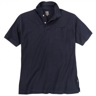 Basic Poloshirt aus Baumwolle dunkelblau_210 | 3XL