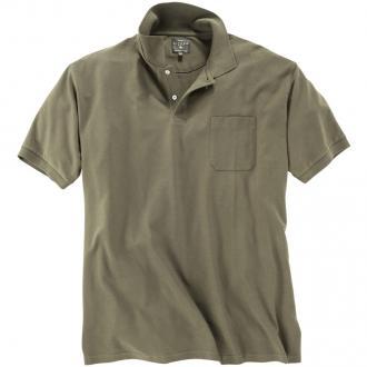 Basic Poloshirt aus Baumwolle khaki_504 | 6XL
