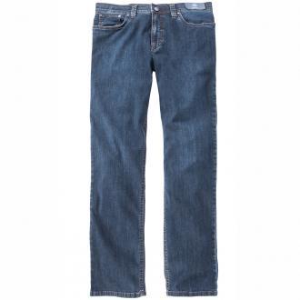Leichte Baumwoll-Jeans mit Stretchanteil mittelblau_24 | 64