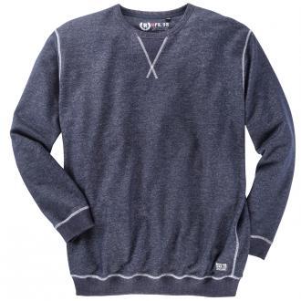 Sweatshirt mit Kontrastnähten dunkelblau_580 | 4XL