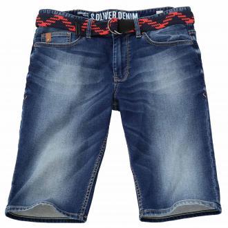 Bequeme Jeans-Short mit Used-Waschung blau_55Z4 | W44