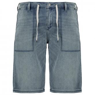 Bequeme Jeans-Short mit Stretch und Kordelzug blau_55Z4   W46