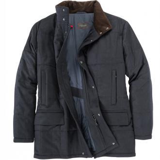 Modische Jacke im Schurwolle-Cashmere-Mix lang blau_96 | 62