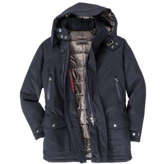 Funktionelle Jacke aus Schurwolle blau_96 | 62