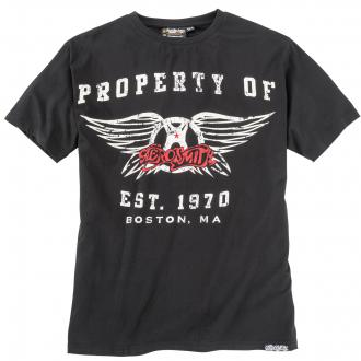 "T-shirt mit großflächigem ""Aerosmith""-Print schwarz_099 | 3XL"
