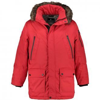Winterjacke mit abnehmbarer Kapuze rot_1400 | 62