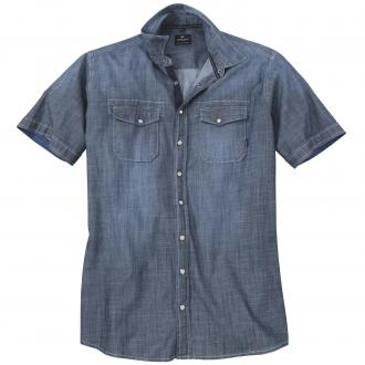 Freizeithemd im Jeanslook jeansblau_5970 | 6XL