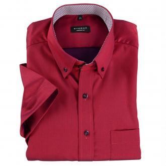 Schickes Business-Hemd mit kurzem Arm weinrot_550 | 46