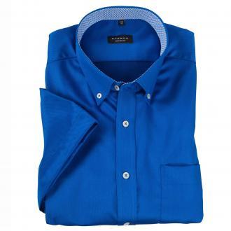 Schickes Business-Hemd mit kurzem Arm mittelblau_66 | 46