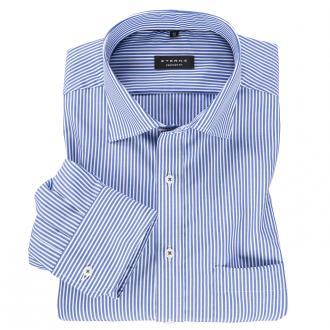 Schickes Cityhemd in moderner Streifen-Optik, langarm blau/weiß_16 | 47