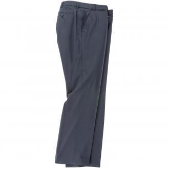 Anzughose Flatfront mit Stretchbund blau_22   36