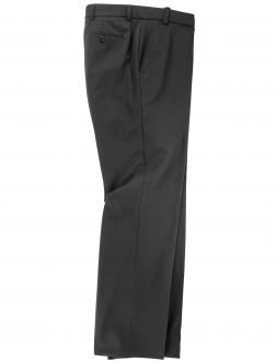 Anzughose Flatfront mit Stretchbund schwarz_2 | 36