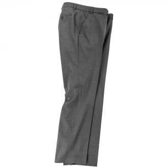 Anzughose Flatfront mit Stretchbund grau_5 | 29