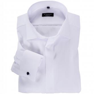 Elegantes Hemd mit verdeckter Knopfleiste weiß_00 | 45