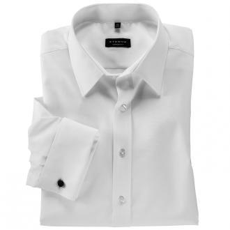 Langarmhemd mit Umschlagmanschette weiß_00 | 45