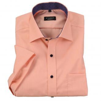 Sommerliches Business-Hemd mit kurzem Arm pfirsich_830 | 45