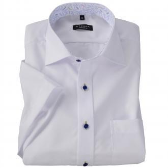 Stilvolles Cityhemd mit Kontrastelementen, kurzarm weiß_00   48