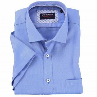 Cityhemd Premium Edision, kurzarm mittelblau_10100 | XXL