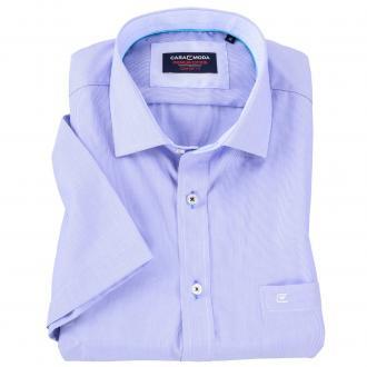 Kurzarmhemd in Streifenoptik blau_100 | XXL
