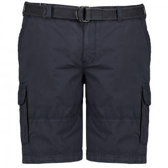 Lässige Cargo-Short mit Gürtel dunkelblau_0800   31