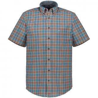Kurzarmhemd mit Vichykaros und Button-Down-Kragen orange_450/55 | XXL
