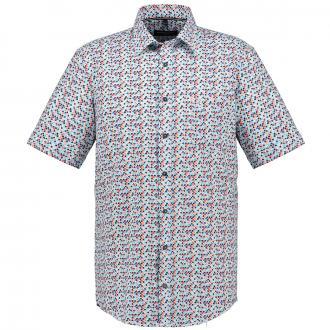 Modernes Freizeithemd, kurzarm türkis_350 | XXL