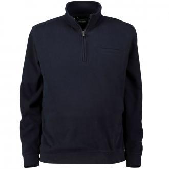 Weiches Sweatshirt mit Troyerkragen dunkelblau_3000 | 3XL