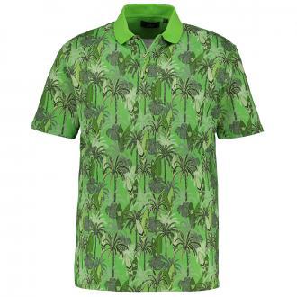 Piqué-Poloshirt mit Surf-Print, kurzarm grün_325 | 3XL