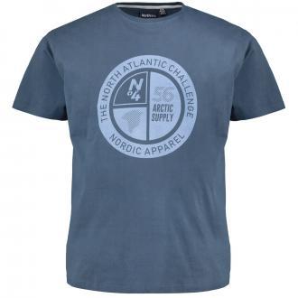 "Baumwoll-T-Shirt mit ""North Atlantic Challenge""-Print dunkelblau_580 | 3XL"