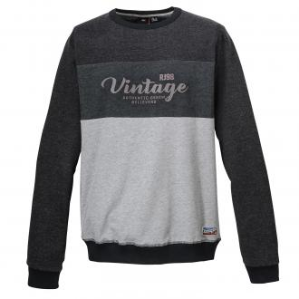 Legeres Sweatshirt mit Vintage-Print dunkelgrau_090 | 3XL