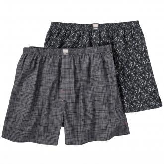 Boxershort im Doppelpack grau/schwarz_11C1 | 3XL