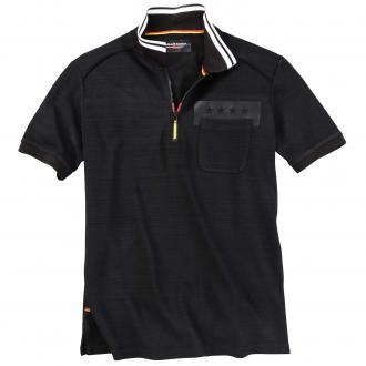 Modisches Poloshirt im WM-Look schwarz/schwarz_800 | 4XL