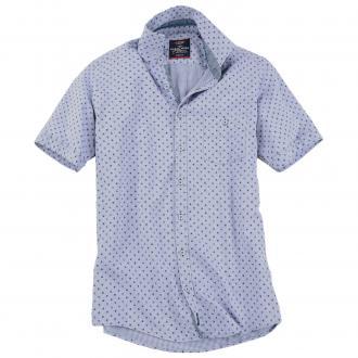 010aa5636563 Kurzarmhemd mit ansprechendem Allover-Print blau 100   3XL