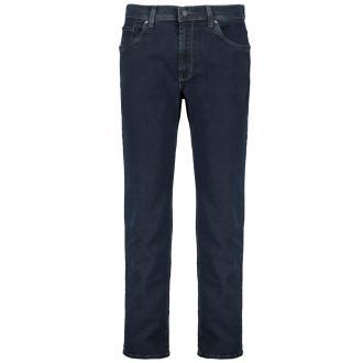 Jeans mit Ziernähten Megaflex dunkelblau_02/04 | 58