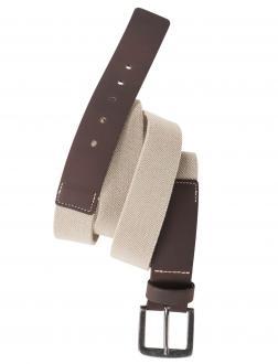 Stretch-Gürtel mit Ledereinsatz beige_735 | 160