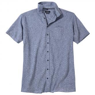 Freizeithemd aus Leinengemisch, kurzarm blau_100 | 3XL
