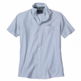 Vielseitiges Freizeithemd in Streifen-Optik, kurzarm blau/weiß_101/4020   XXL