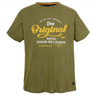 "T-Shirt mit Frontprint ""Original"" oliv_0650 | 3XL"