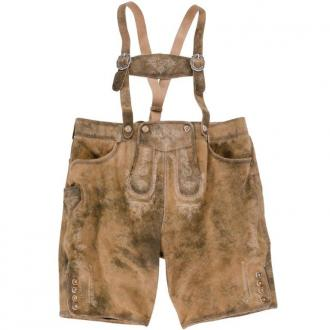 Kurze Trachten-Lederhose im Vintage-Look braun_DESERT | 31