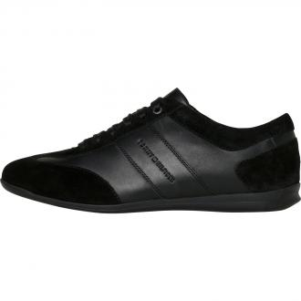 Schicker Sneaker im modischen Materialmix schwarz_990 | 43