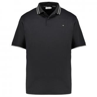 Softes Poloshirt in 2-Knopfform schwarz_BDS   3XL