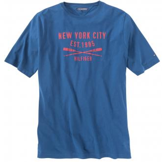 Print T-Shirt mittelblau_513 | 5XL