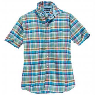 Farbenfroh kariertes Freizeithemd blau/weiß_902   3XL