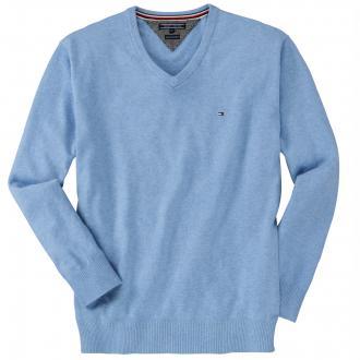 Leichter Pullover aus Kaschmir-Mix hellblau_458 | 3XL