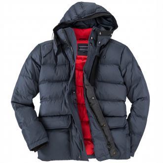 Warme Winterjacke mit modischer Steppung dunkelblau_403 | 3XL