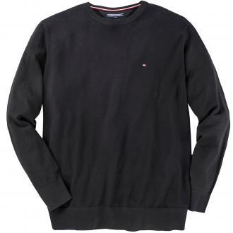 Pullover mit Logo-Stickerei schwarz_083 | 4XL