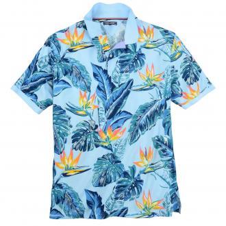 "Sommerliches ""Hawaii"" Poloshirt hellblau_449 | 3XL"