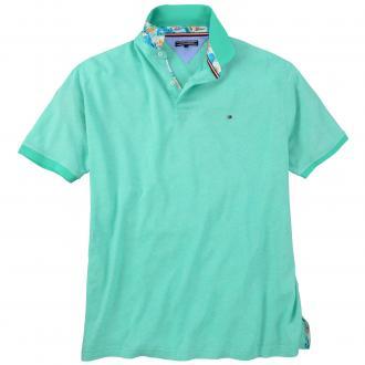 Hochwertiges Poloshirt in melierter Optik apfelgrün_3040 | 3XL