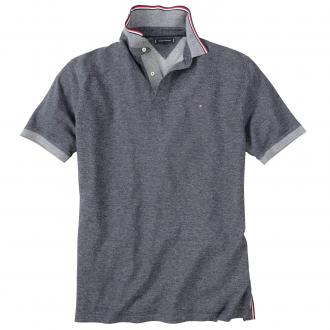 Meliertes Poloshirt mit ansprechenden Details. kurzarm dunkelblau_403   3XL